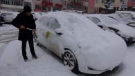Yozgat'ta kar yağışı kenti beyaza bürüd