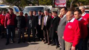 Belediyeden temizlik işleri bünyesine 8 yeni araç takviyesi