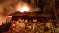 Yozgat'ta çöp evde çıkan yangın korkuttu