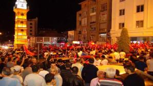 Yozgat'ta demokrasi nöbeti devam ediyor