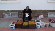 Yaşlı kadın evinin geçimini dağdan topladığı meyveleri satarak sağlıyor