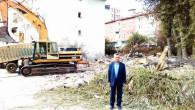 Yozgat Belediyesi metruk binaların yıkımına devam ediyor