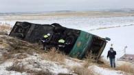 İranlı turistleri taşıyan otobüs devrildi: 6 kişi yaralandı