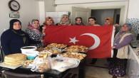 Ev hanımlarından Çukurca'daki askerlere pasta ve sarma
