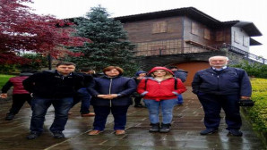 Gazeteciler Cumhurbaşkanı Erdoğan'ın Rize'deki evini ziyaret etti