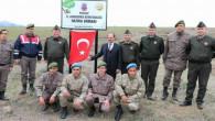 Jandarma hatıra ormanına 840 fidan dikimi yaptı