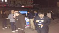 Yozgat Ülkü Ocaklarından Teravih sonrası cemaate limonata ikramı