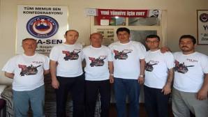 Diva Sen Yozgat Şubesinden Bin adet 15 Temmuz armalı tişört