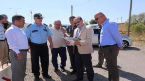 Vali Yurtnaç, Trafik ekiplerinin 'drone'li uygulamasını yerinde inceledi