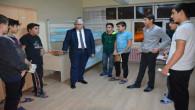 Yazıcı'dan öğrencilerin kaldığı pansiyona akşam ziyareti