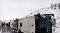Yozgat'ta otobüs devrildi:1 ölü 20 yaralı