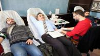 Belediye personelinden Afrin'deki askerlere destek için kan bağışı
