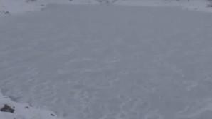 Soğuk hava göletleri dondurdu