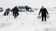 Yozgat Belediyesi Zabıta ekipleri yaban hayvanlarını unutmadı