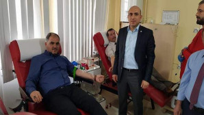 Memur Sen Yozgat İl Temsilciliğinden Kızılay'a kan bağışı