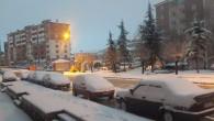 Yozgat güne beyaz kar örtüsü ile uyandı