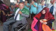Rehabilitasyon Merkezinde kalan engelliler dünya evine girdi