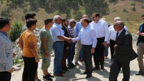 Vali Yurtnaç, köy ziyaretlerini sürdürüyor