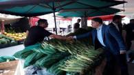 Milletvekili Başer, pazarcı esnafını ziyaret etti