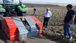 Taş kırma makinesi ile atıl tarım arazileri değerlendirilecek