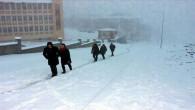 Yozgat'ta kar yağışı etkili oldu