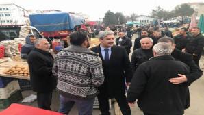 Belediye Başkan Adayı Köse pazarcı esnafını ziyaret etti
