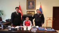 Albay Yeşliyurt, makamını Ortaokulu öğrencisi İbiş'e devretti