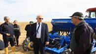 Toprak işlemsiz tarımla mercimek ekimi yapıldı