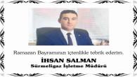 Sürmeligaz Şube Müdür Salman'dan Ramazan Bayramı mesajı