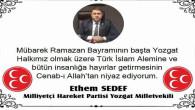 Milletvekili Sedef, Yozgat halkının Ramazan Bayramını kutladı