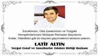 ESOB Başkanı Altın, Yozgat esnafının ve üyelerinin bayramını kutladı