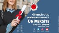 Öğrenci dostu şehirde huzurlu bir üniversite