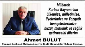 Yozgat SMMMO Başkanı Bulut'tan bayram mesajı