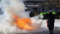 Polis ekipleri, yangın ve deprem tatbikatı yaptı