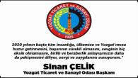 Yozgat TSO Başkanı Sinan Çelik, Yozgat halkının yeni yılını kutladı