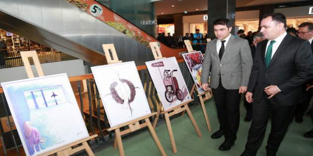 """""""Uluslararası Çizgilerle Yemen"""" sergisi açıldı"""