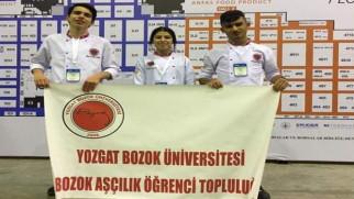 Bozok Üniversitesi Aşçılık Programı öğrencilerinden büyük  başarı
