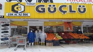 Güçlü Gross marketler zincirinde koronavirüs önlemi