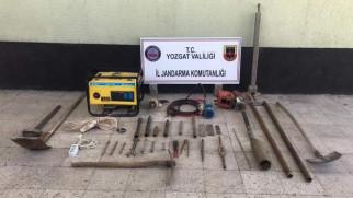Jandarma'dan kaçak kazıya suçüstü