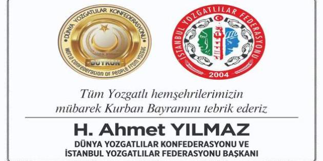 DUYKON Genel Başkanı Yılmaz'dan bayram mesajı