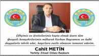 Yerköy Ziraat Odası Başkanı Metin, Yozgat halkının bayramını kutladı