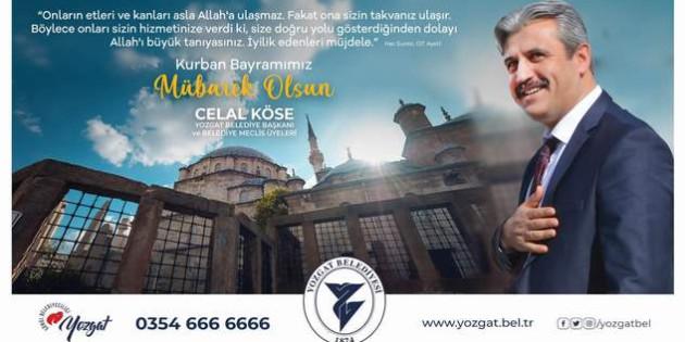 Yozgat Belediye Başkanı Köse, Yozgat halkının bayramını kutladı