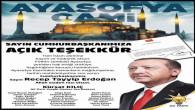 AK Parti Yozgat Merkez İlçe Başkanı Kılıç ve Teşkilatından Cumhurbaşkanı Erdoğan'a teşekkür