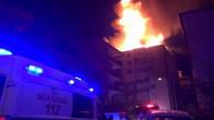 Yozgat'ta iki sitenin çatısı yandı, binalarda oturanlar tahliye edildi