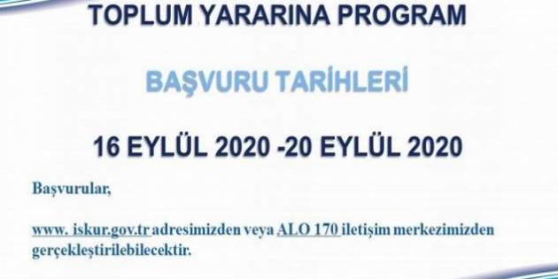 İşKur TYP başvuruları 16-20 Eylül tarihleri arasında yapılacak