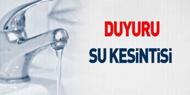 Belediye'den su kesintisi uyarısı