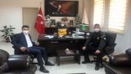 Başsavcı Uçak ve Emniyet Müdürü Esertürk'ten ziyaret