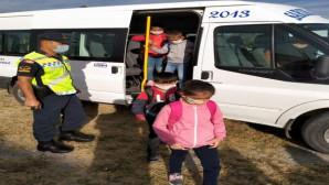 Sarıkaya'da okul servis taşıtları denetlendi