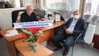 Başkan Şaşmaz'dan gazetemize ziyaret