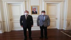 Başkan Erkekli ve yönetiminden Vali Polat'a ziyaret